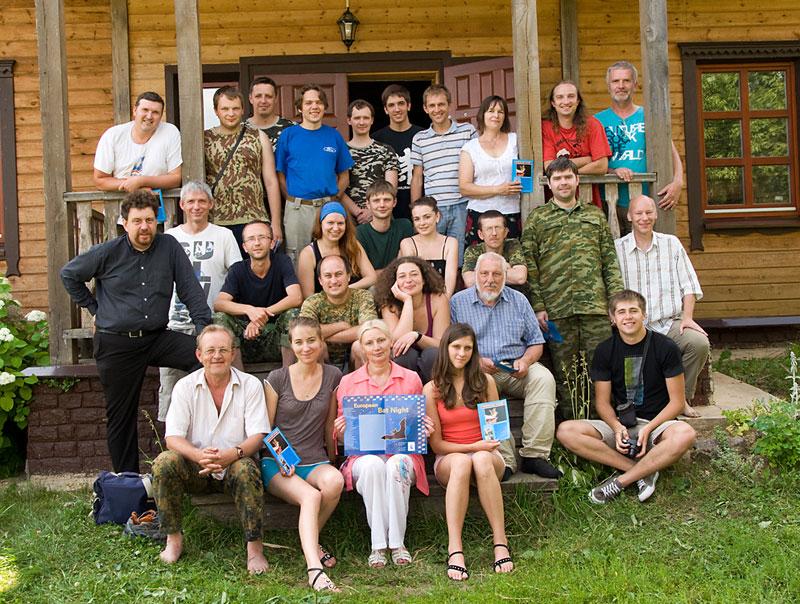 Participants of the workshop 'Bats in Belarus' (Photo: Dennis Wansink).